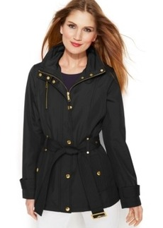 Michael Michael Kors Hooded Belted Jacket
