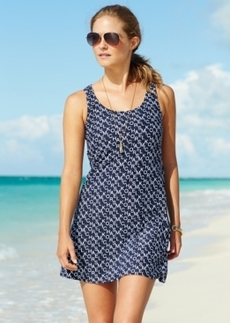 Michael Michael Kors Logo-Print Tank Dress Cover Up Women's Swimsuit