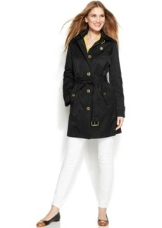 Michael Michael Kors Hooded Belted Trench Coat