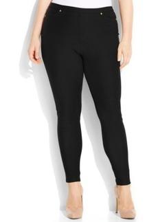 Michael Michael Kors Plus Size Denim-Look Skinny Leggings