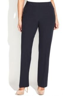 Michael Michael Kors Plus Size Grammercy Straight-Leg Trousers
