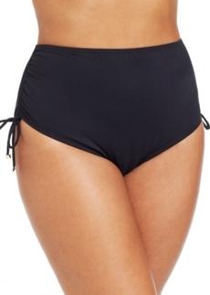 Michael Michael Kors Plus Size High-Waist Side-Tie Swim Brief Bottom Women's Swimsuit