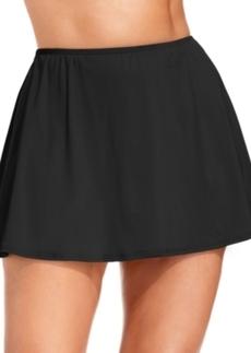 Michael Michael Kors Plus Size Solid Swim Skirt Women's Swimsuit