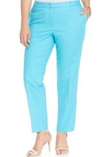 Michael Michael Kors Plus Size Welsey Straight-Leg Trousers