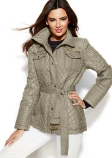 Michael Michael Kors Quilted Belted Jacket