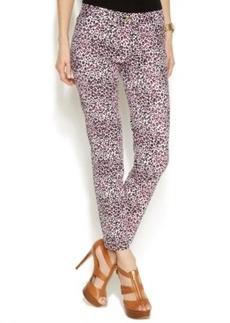 Michael Michael Kors Slim-Leg Leopard-Print Pants
