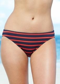 Michael Michael Kors Striped Swim Brief Bottom Women's Swimsuit