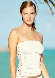 Michael Michael Kors Studded Bandeau Tankini Top Women's Swimsuit