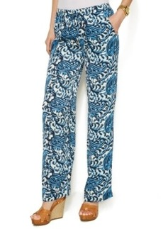 Michael Michael Kors Wide-Leg Paisley Drawstring Pants