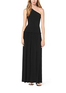 One-Shoulder Jersey Maxi Dress