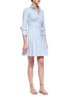 Oxford Double-Cuff Shirtdress, Sky Blue   Oxford Double-Cuff Shirtdress, Sky Blue