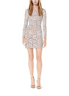 Paillette-Embroidered Lace Dress