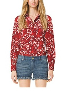 Paisley Button-Down Shirt, Petite