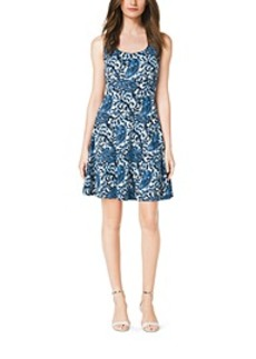 Paisley-Print Flared Dress