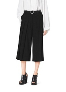 Pleat-Front Wool Culottes