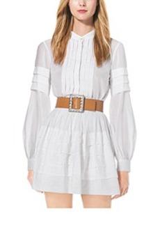 Pleated Cotton-Organdy Shirt