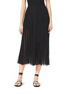 Pleated Silk-Plissé Skirt