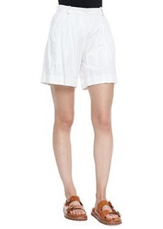 Pleated Trouser Shorts, Optic White   Pleated Trouser Shorts, Optic White