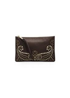 Rhea Studded Leather Large Zip Wristlet