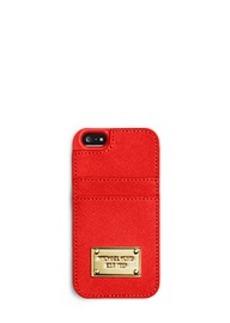 Saffiano Leather Pocket Smartphone Case