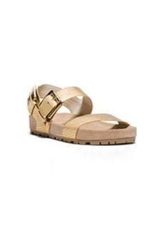 Sawyer Metallic Embossed-Leather Sandal