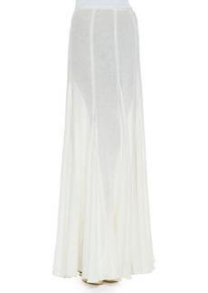 Semisheer Linen Maxi Skirt   Semisheer Linen Maxi Skirt