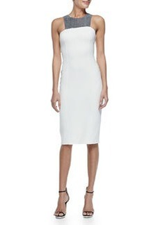 Sequined Halter Sheath Dress   Sequined Halter Sheath Dress