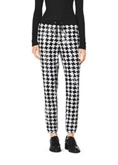 Sequined Houndstooth Pants