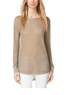 Sheer Metallic Sweater