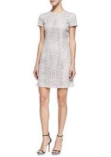 Short-Sleeve Eyelet Dress, Optic White   Short-Sleeve Eyelet Dress, Optic White