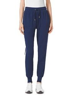 Side-Stripe Drawstring Pants