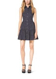 Sleeveless Cotton-Poplin Shirtdress