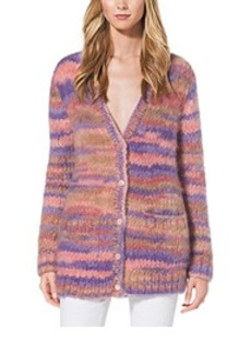 Space-Dyed Mohair Cardigan