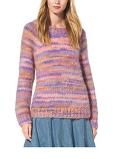 Space-Dyed Mohair Crewneck Sweater