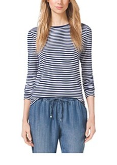 Striped Jersey Top, Petite