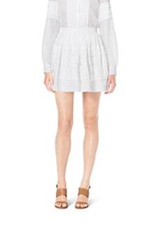 Tiered Cotton-Organdy Mini Skirt