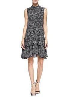 Tiered Ruffle Dress, Black/White   Tiered Ruffle Dress, Black/White