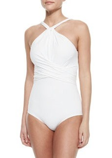 Twisted High-Neck One-Piece Swimsuit   Twisted High-Neck One-Piece Swimsuit