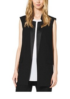Wool Sleeveless Boyfriend Jacket