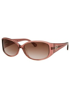 Michael By Michael Kors Women's AF Rectangle Translucent Pink Sunglasses
