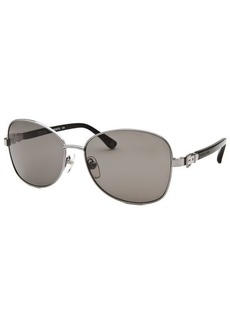 Michael By Michael Kors Women's Alissa Square Gunmetal Sunglasses