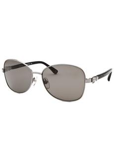 Michael By Michael Kors Women's Alissa Square Gunmetal Sunglasses