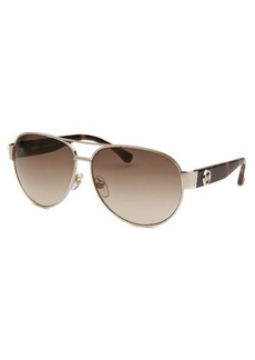 Michael By Michael Kors Women's Aviator Silver-Tone Sunglasses