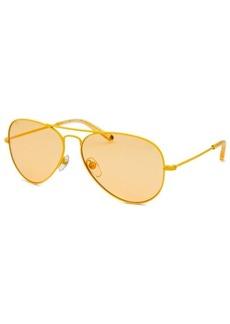 Michael By Michael Kors Women's Aviator Yellow Sunglasses