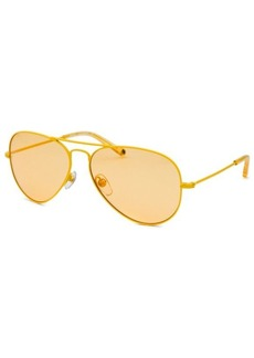Michael By Michael Kors Women's Aviator Yellow Sunglasses