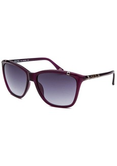 Michael By Michael Kors Women's Beth Square Purple Sunglasses
