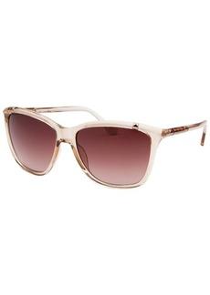 Michael By Michael Kors Women's Beth Square Translucent Peach Sunglasses