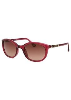 Michael By Michael Kors Women's Bridget Square Translucent Burgundy Sunglasses