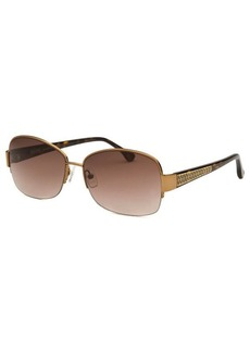 Michael By Michael Kors Women's Britt Rectangle Bronze-Tone Sunglasses