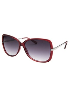 Michael By Michael Kors Women's Camille Butterfly Burgundy Translucent Sunglasses
